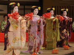 ...attend a festival performed by geisha and maiko in Japan.