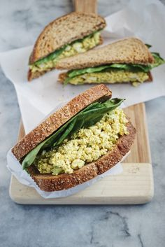 eggless egg salad sandwich #vegan
