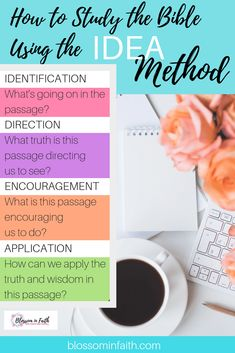 The bible 652529433497197387 - Bible Study Methods. How to study the bible using the IDEA method. Source by altisabrina Bible Study Notebook, Bible Study Plans, Bible Study Tips, Bible Study Journal, Scripture Study, Bible Lessons, Prayer Journals, Scripture Reading, Bible Studies For Beginners