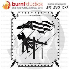 Digital File Ohio Lineman USA America Linemen by BurntStudios