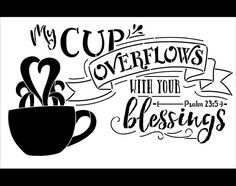 My Cup Overflows - Word and Art Stencil - Select Size - STCL1421 - by StudioR12  Blessings will abound when you use this Arts & Crafts style word stencil on your project. Available in multiple sizes. Use for mixed media, scrap-booking, shabby chic projects, furniture restoration, card making, decorative painting, and more.  Available Sizes: STCL1421_1 - 14 x 9 (actual cut-out size 13.5 x 8) STCL1421_2 - 17 x 11 (actual cut-out size 16.25 x 9.5)  Other StudioR12 Stencils You Might Like... ♥…