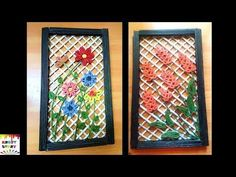 How to make a newspaper wall decor - YouTube