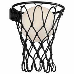 Seinävalaisin Basketball Korkeus 37cm lev. 30cm Ulkonema 32cm 1x E27 / max 20W led Mantra, Basketball, Led, Material, Products, Textile Fabrics, Metal, Colors, Color Black