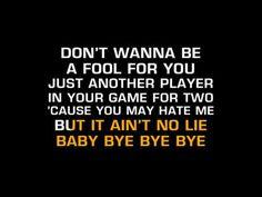 NSYNC-Bye Bye Bye (Karaoke)