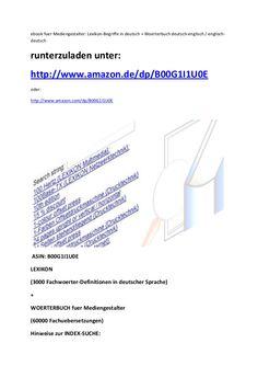 Digital media design glossary in german language