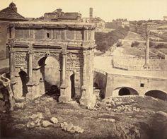 Arch of Septimius Severus Roman Forum, Rome, Lazio, Italy 203 A.D. Photograph Photographer: Robert Macpherson Print: albumen prints (256 x 305 mm) Type: Photographic print Copyright: © Courtauld Institute of Art