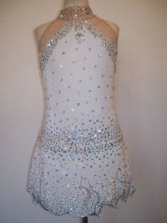 New Ice Skating Twirling Baton Dress Child L   eBay