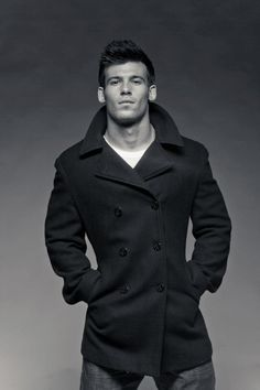 Slim Fit Wool Pea Coat