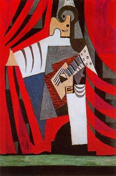 Punchinello with guitar 1920 Pablo Picasso