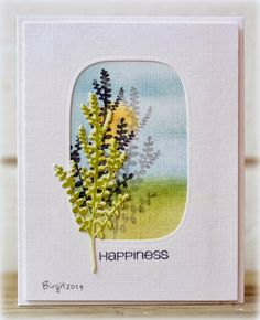 Birgit at Rapport från ett skrivbord used this tree die from CAS-ual shop, to create this card.