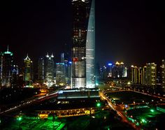 The Jinmao Tower and the Shanghai World Financial Center, Shanghai - CHINA
