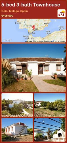 Townhouse for Sale in Coin, Malaga, Spain with 5 bedrooms, 3 bathrooms - A Spanish Life Outdoor Swimming Pool, Swimming Pools, Malaga Spain, Basement Flooring, Living Room With Fireplace, Murcia, Maine House, Water Tank, Bungalow
