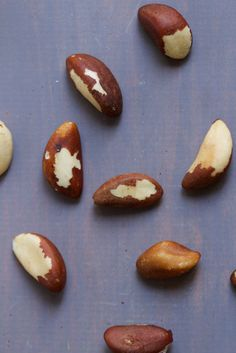 Brazil nuts - high in selenium, a nutrient essential for healthy skin, hair and nails. maybe thats why theyre so beautiful