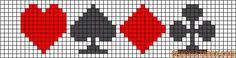 loisirs - leisure - jeux de carte - point de croix - cross stitch - Blog : http://broderiemimie44.canalblog.com/