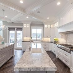 Awesome Ideas For Luxury White Kitchen Design Decor Ideas. Below are the Ideas For Luxury White Kitchen Design Decor Luxury Kitchen Design, Dream Home Design, Luxury Kitchens, Home Kitchens, Fancy Kitchens, Cottage Kitchens, Home Decor Kitchen, Kitchen Interior, Kitchen Ideas
