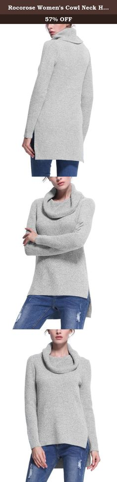 Rocorose Women's Cowl Neck High Low Hem Knit Sweater 522800800L. Rocorose is a research and development, production, marketing high-end clothes, mainly exported to Western Europe, the United States.Every quarter,our stylist will release the newest design and share their concept with favoriate customers. What we firmly believe is to offer the reasonable price, high quality clothing ,being faithful friend with our customers.Time will prove all we work. Pls Note : Kindly choose your size…