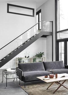 harmaja saimaa olohuone portaat trappor stairs kannustalo