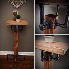 A personal favorite from my Etsy shop https://www.etsy.com/listing/495161966/solid-wood-beam-iron-pipe-square-dining