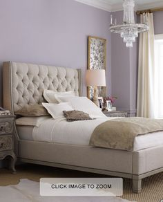 blue gray and white bedroom | Little Miss Penny Wenny: Inspiration for Master Bedroom Makeover