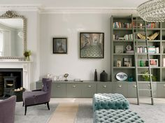 HOUSE IN WIMBLEDON - transitional - living room - london - STEPHEN FLETCHER ARCHITECTS