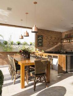 Espaço Gourmet: Saiba O Que é Necessário para Ter o Seu +61 Modelos Diy Home, Home Decor, New House Plans, Outdoor Furniture Sets, Outdoor Decor, Sweet Home, New Homes, House Design, Table