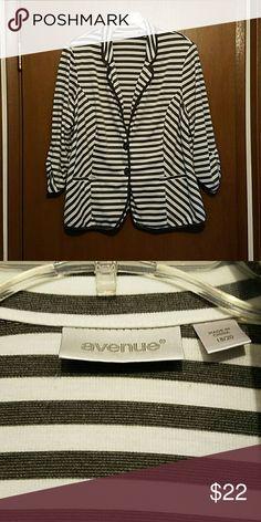 Selling this Blazer on Poshmark! My username is: danabroadnax. #shopmycloset #poshmark #fashion #shopping #style #forsale #Avenue #Jackets & Blazers