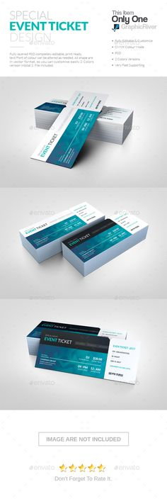 Event Ticket Template VI Ticket Template Event Ticket And Template - Event ticket template photoshop