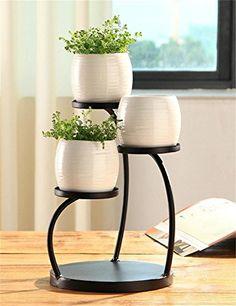 Creative Pot Ideas For Your Home Decor! Iron Furniture, Steel Furniture, Garden Furniture, House Plants Decor, Plant Decor, Vertikal Garden, Wrought Iron Decor, Diy Plant Stand, Plant Stands
