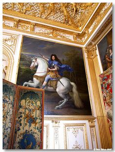 VERSAILLES (France): The King's chamber.