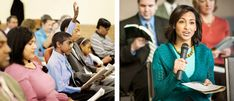 A boy raises his hand at the Watchtower Study, a sister comments at the Watchtower Study