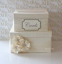 Wedding Card Box Money Box Custom Made to by jamiekimdesigns