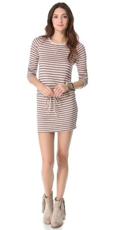9f7874773c7b 51.60 Nightcap Clothing Striped Terry Dress FREE SHIPPING at shopbop.com.  Speckled stripes complement