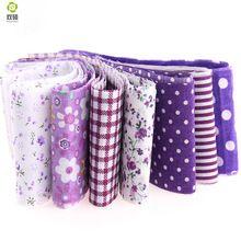 100% algodón Nueva arrivals10pcs/lot jelly roll tiras de tela de costura textil conjuntos Púrpura 5 cm x 100 cm tildes acolchar los paños muñeca(Hong Kong)
