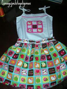 Kubaloo: Tengo el mejor tutorial para... hacer una falda para niña