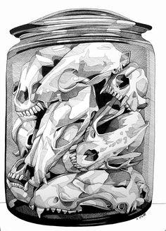 Jar o Skulls by Andrew Spear #IvanHood