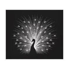 White peacock canvas print - diy individual customized design unique ideas
