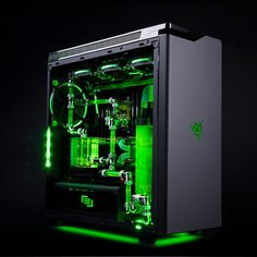 Based on the popular NZXT H440 Designed by Razer case, the R1 Razer Edition is a one-of-a-kind PC you won't find anywhere else.