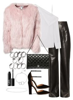 """""""Untitled #3371"""" by theeuropeancloset on Polyvore featuring Maison Rabih Kayrouz, Dion Lee, Estradeur, Gianvito Rossi, Chanel, Chupi, Anne Sisteron and NARS Cosmetics"""