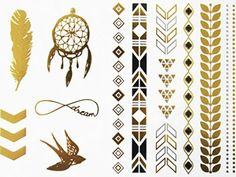 Novoskins Tattoo Artist Gold and Silver Foil Temporary Tattoo Jewellery transfer Swallow Infinity Dreamcatcher Collection Set - http://www.yourdreamtattoos.com/novoskins-tattoo-artist-gold-and-silver-foil-temporary-tattoo-jewellery-transfer-swallow-infinity-dreamcatcher-collection-set/?utm_source=PN&utm_medium=http%3A%2F%2Fwww.pinterest.com%2Fpin%2F368450813235896433&utm_campaign=SNAP%2Bfrom%2BYour+Dream+Tattoo