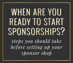 When Are You Ready to Start Blog Sponsorships? -Love Grows Design Blog