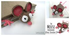 This Mouse Bookmark's sheer cuteness will make it an instant hit. This Amigurumi Mouse Bookmark Free Crochet Pattern helps you make cute bookmark for yourself or give as a gift. This pattern is an ideal project for beginner crocheters.