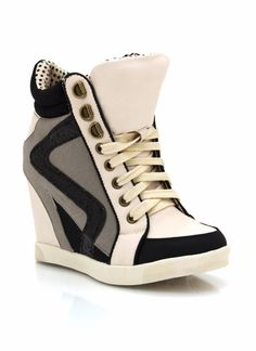 lace-up wedge sneakers