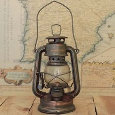 Antique Brass Train Railroad Lantern by KMDCreations on Etsy