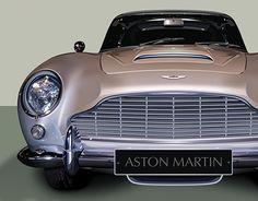 Aston Martin Db5, High Quality Wallpapers, Automotive Design, New Work, Walls, Behance, Illustrations, Wall Art, Gallery