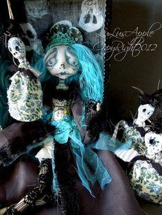 Art doll Dia de los Muertos day of the dead OOAK by LuLusApple