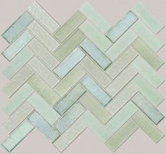 obsessed. this might be the one! herringbone sea glass backsplash
