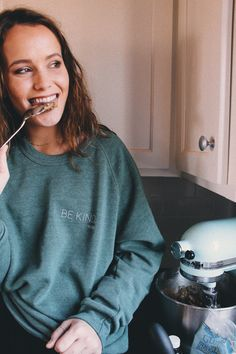 "Mary Kate Robertson in our ""Be Kind"" sweatshirt <3 // http://ss1.us/a/kgx6LOQo"