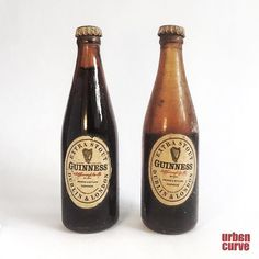 Miniature Guinness bottles. These are only 85mm high! I found them some years back under the floorboards of a house I was renovation along with other artefacts I will photograph and post sometime. #guinness #miniture #petite #minitures #antique #retro #lifeinminiture #urbancurve #macro #closeup #detail #alcohol #brewing #rare #vintage