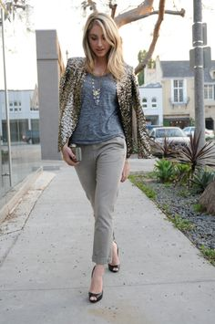 Zara Blazer, Club Monaco Shirt, Vanessa Mooney and Madewell Necklaces, Gap Pants, Vintage and Hermes Bracelets, Kelly Wearstler Clutch, Louboutin Heels