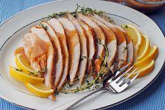 Roasted Lemon-Thyme Turkey with Lemony Gravy